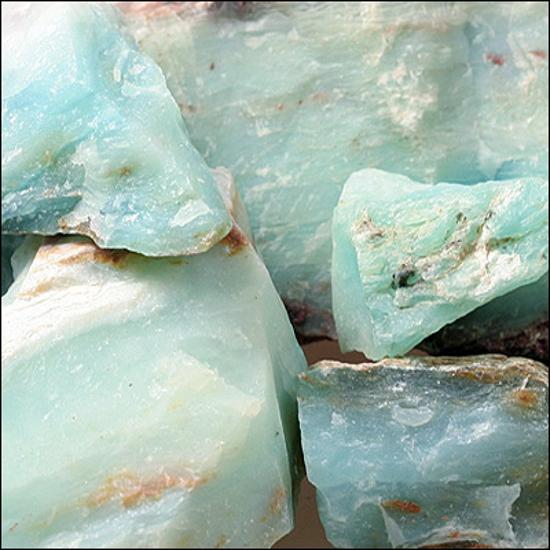 Afbeelding van Andes Opaal, Peru blauw, ruw en slijpbaar