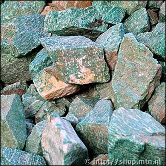 Afbeelding van Amazoniet ruw, slijpbaar materiaal Rusland