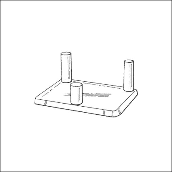 Afbeelding van Kunststof standaard DPS-2 (25x64x50)