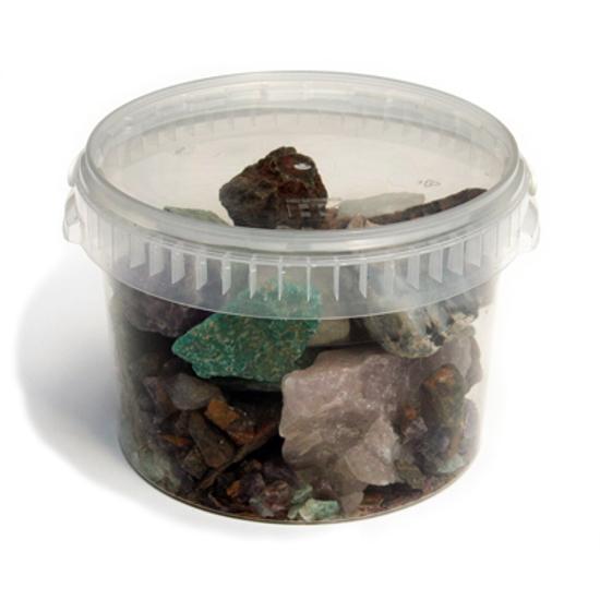 Afbeelding van Ruwe edelstenen-mineralen mix 3,5 kilo