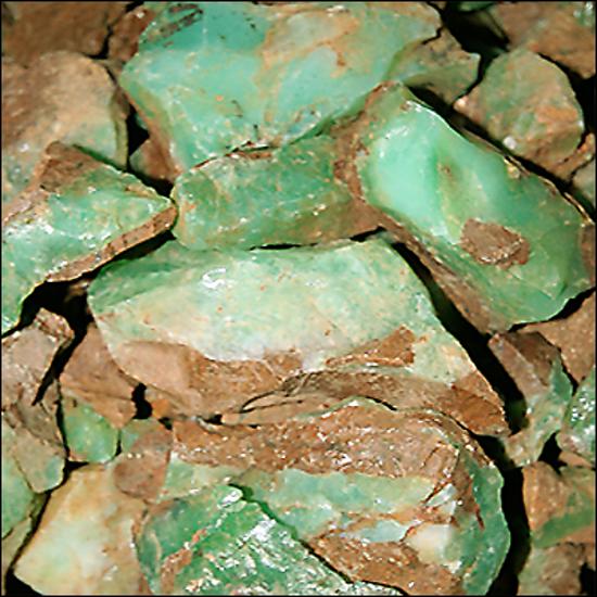Afbeelding van Opaal, Groen uit Tanzania