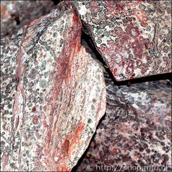 Afbeelding van Luipaard Jaspis ruw, slijpbaar materiaal per 500 gram