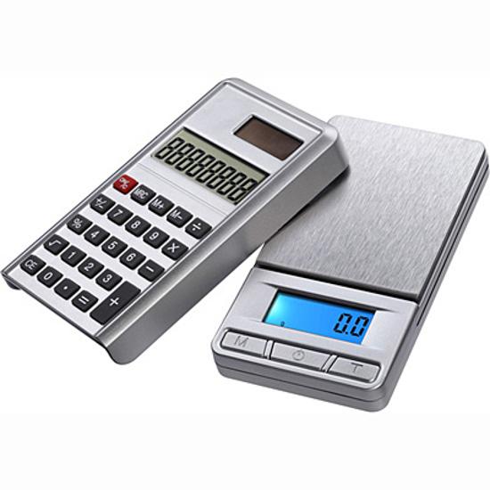 Afbeelding van Digitale weegschaal met calculator