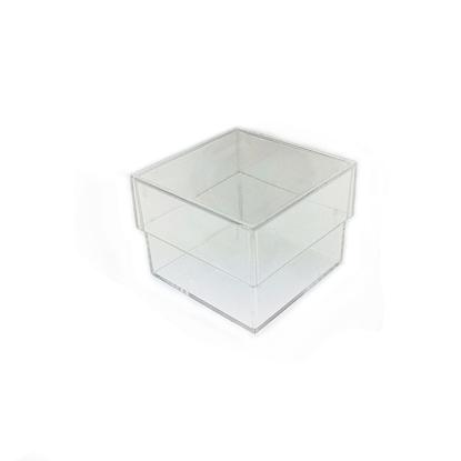 Afbeeldingen van Micromount doosje model '25mm' Helder kunststof