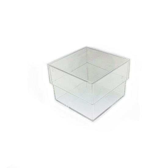 Afbeelding van Micromount doosje model '25mm' Helder kunststof