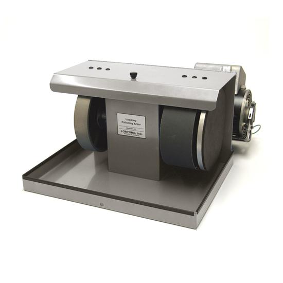 Afbeelding van Lortone BA82 RVS Beaver 'diamant' cabochon slijp/polijstmachine 200mm