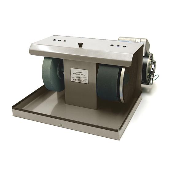 Afbeelding van Lortone BA82 RVS Beaver 'SiC' cabochon slijp/polijstmachine 200mm