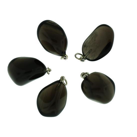 Afbeelding van Apachetraan (Obsidiaan) edelsteen hanger