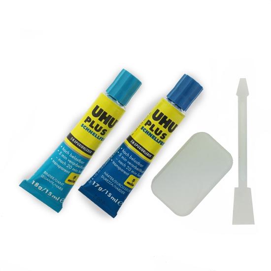 Afbeelding van UHU-plus 2-componentenlijm blauw 35 gram