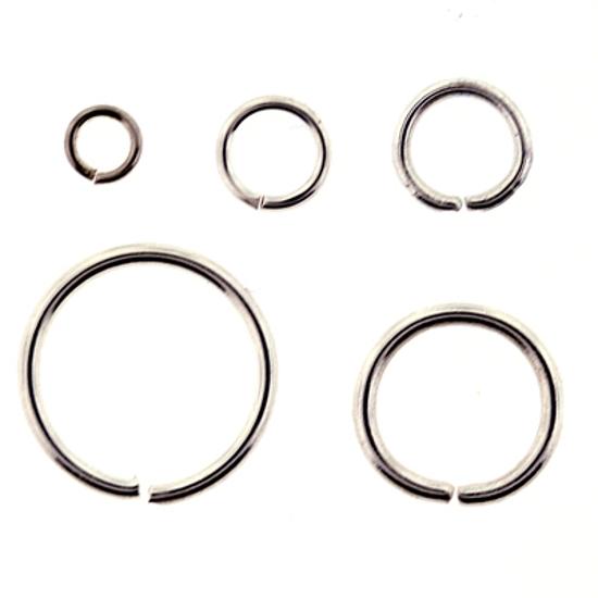 Afbeelding van Aanbuig ogen voor Bellcaps 6 mm Verzilverd