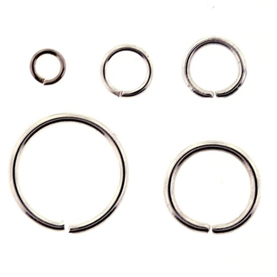 Afbeelding van Aanbuig ogen voor Bellcaps 12 mm Verzilverd